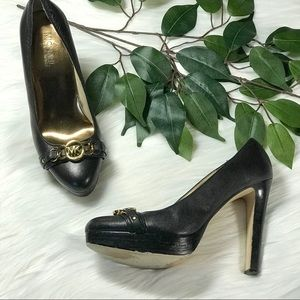 Michael Kors Leather Platform Heels Sz 6.5